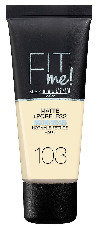 Maybelline New York Fit Me. Matte & Pori Make Up N. 103Pure Ivory, 30ML B31972