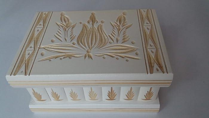 02123fa05c6878 Puzzle box jewelry box white magic treasure mystery secret compartment  storage wooden box home decor brain teaser  Amazon.co.uk  Handmade