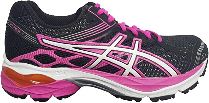 Asics Gel-Pulse 7 Womens Running Shoes Black/Pink, T5F6Q 9001, 38 EU: Amazon.es: Zapatos y complementos