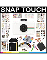 Polaroid: pack de regalo de cámara instantánea SNAP TOUCH + papel ZINK (20 hojas) + 9 packs de pegatinas únicas + bolsa + rotuladores dobles + marcos + álbum de fotos + accesorios