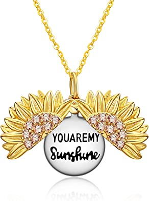 Personalized sterling silver you are my sunshine necklace personalize mommy necklace initial sterling silver