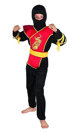 Amazon.com: Ninja Master Boys disfraz infantil de japonés ...