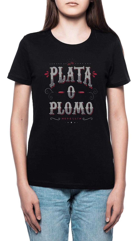 Colombiano Acuerdo Mujer Camiseta Cuello Redondo Negro Manga ...