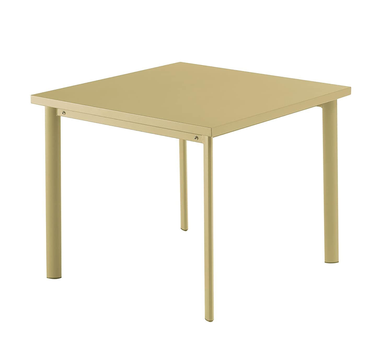 Emu 303063500 Star Tisch 306, 90 x 90 cm, pulverbeschichteter Stahl, sandfarben