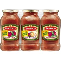 Bertolli Tomato and Basil and Olive Oil and Garlic Tomato Pasta Sauce 3 Pack of 24 Ounce Jars