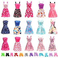 Miunana 22 pcs Doll Clothes and Accessories 10 pcs Party Dresses 10 pcs Doll Shoes for 11.5 inch Dolls