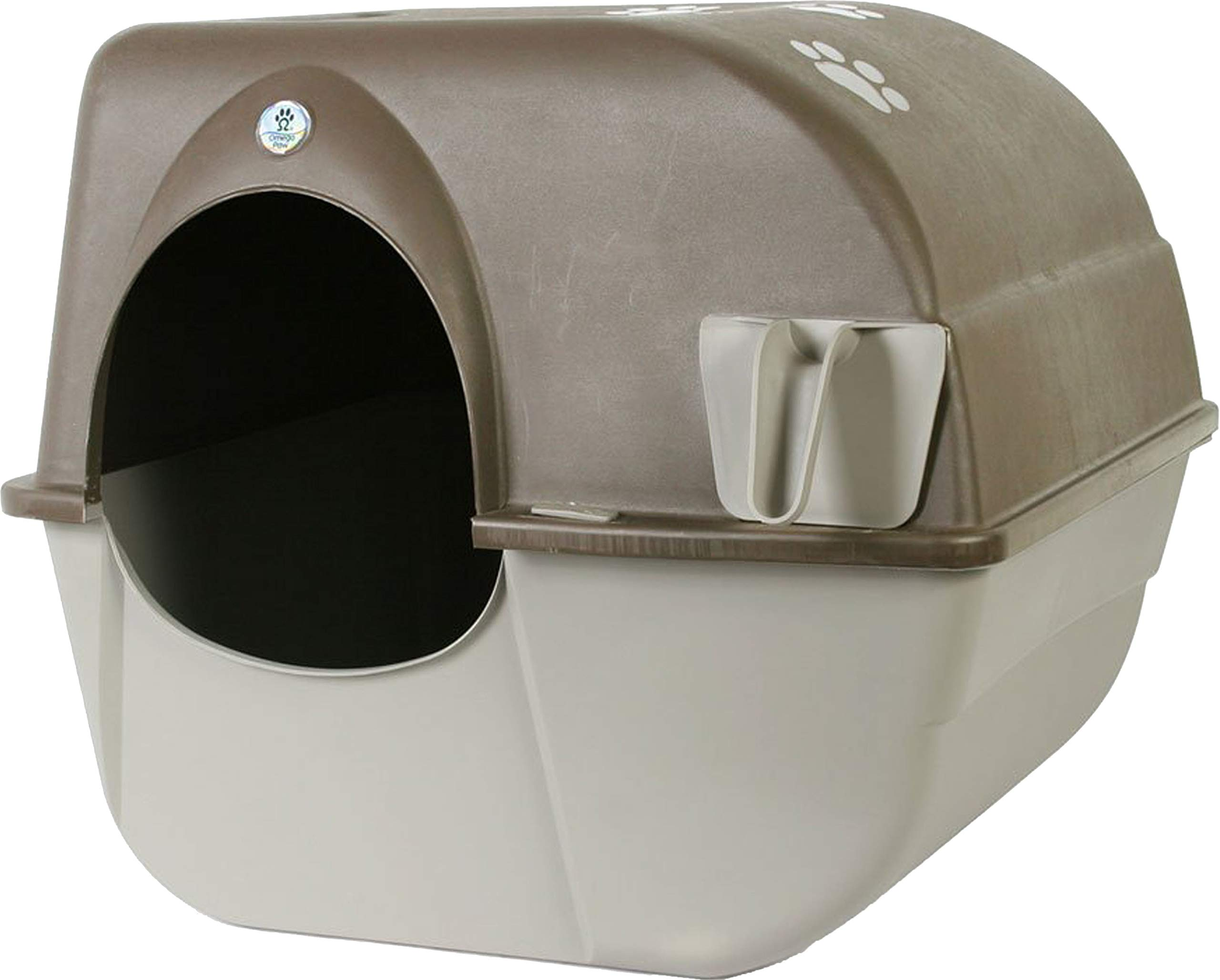 Omega Paw Products RA20 Self Cleaning Litter Box (Large, 19-1/2 Inch W x 22 Inch D x 20 Inch H) by Omega Paw Products