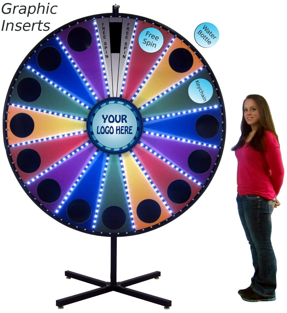 Amazon com: 72in LED Lighted Insert Your Own Graphics
