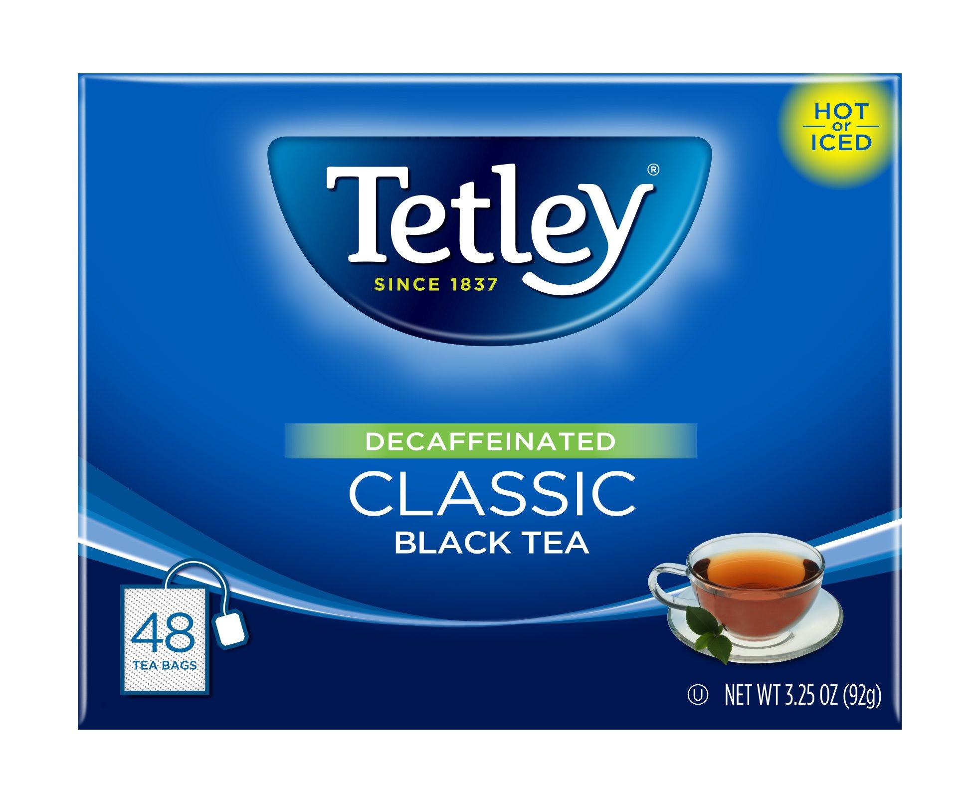 Tetley Black Tea, Decaffeinated Classic, 48 Tea Bags (Pack of 6)