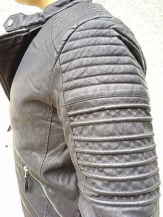 95d5f0860578b Manteau Homme Veste hiver simili cuir Blouson Jacket fourrure doudoune  D251  Amazon.fr  Vêtements et accessoires