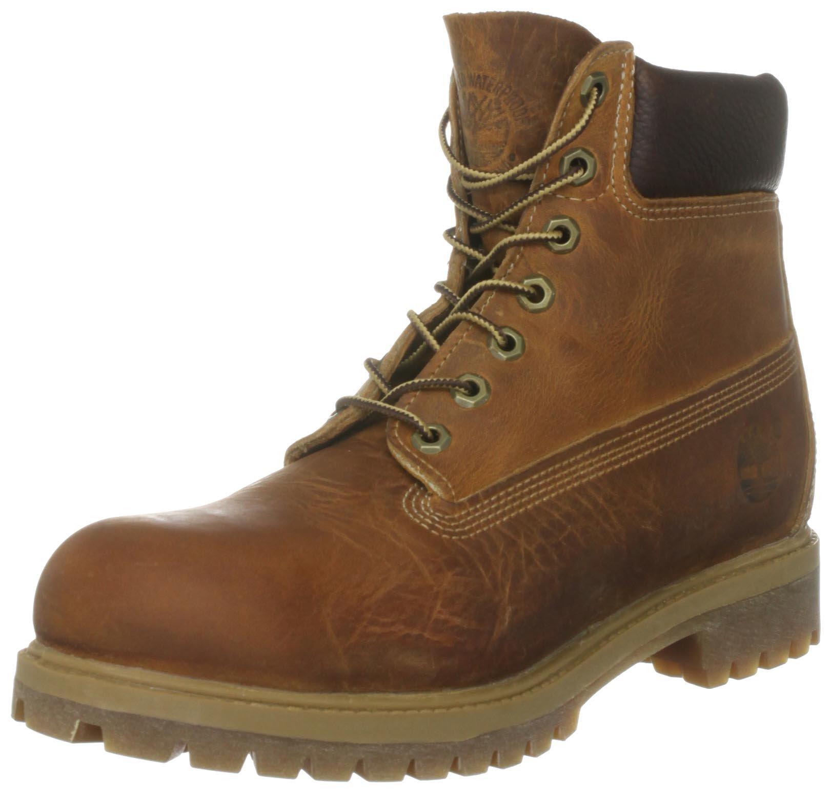 Timberland Mens Heritage 6'' Premium Boot Burnt Orange Worn Oiled All Leather 9W