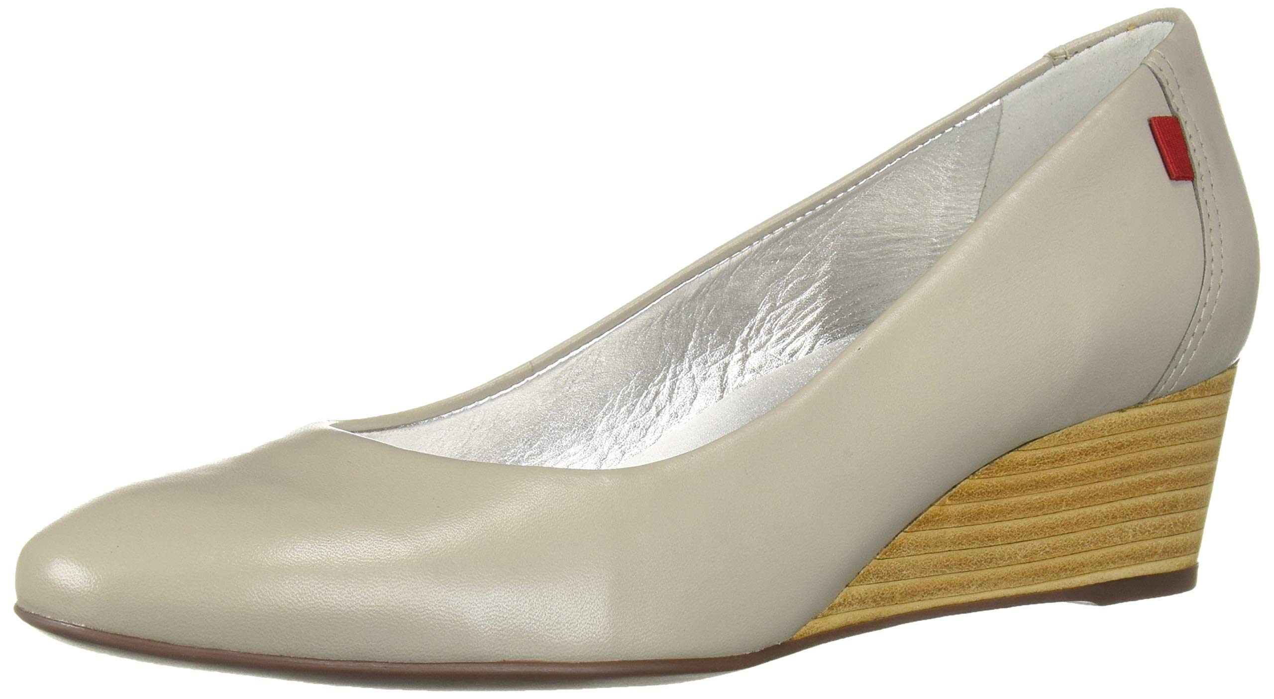 MARC JOSEPH NEW YORK Womens Leather Made in Brazil Cooper Wedge Pump, ash Grey Kid Nappa, 7 M US by MARC JOSEPH NEW YORK