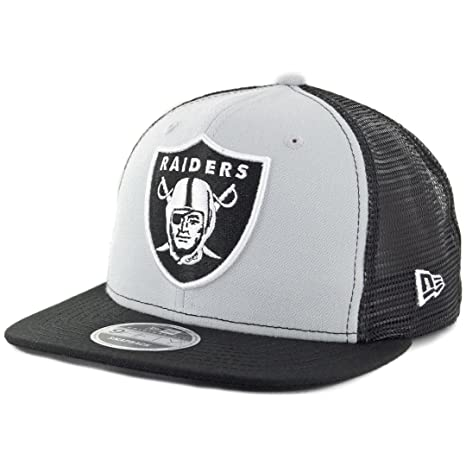 4587d9757 Image Unavailable. Image not available for. Color  New Era 9Fifty Oakland  Raiders  quot Trucker quot  Snapback Hat (Grey-Black)