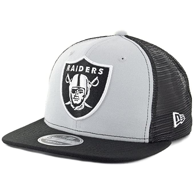 "910402aa Image Unavailable. Image not available for. Color: New Era 9Fifty Oakland  Raiders ""Trucker"" Snapback Hat ..."