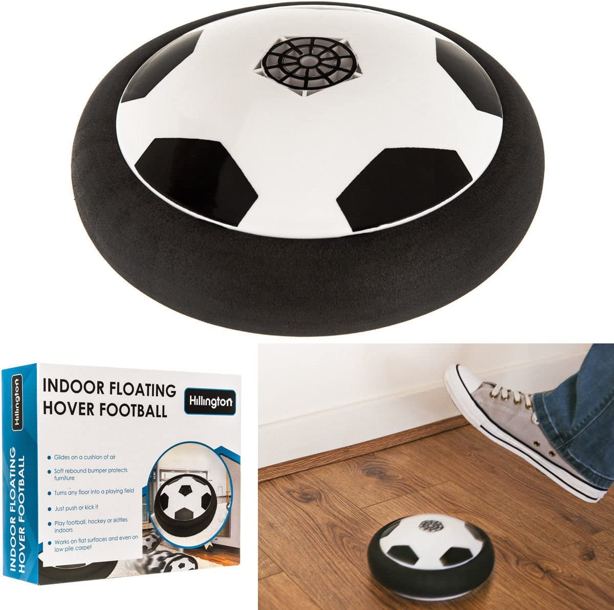FiNeWaY@ AIR POWER SOCCER DISK CHILDRENS HOVER GLIDE FOOTBALL ...
