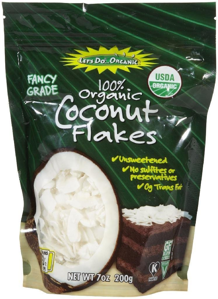 Let's Do Organic Unsweetend Coconut FlakesPouches - 7 oz by Let's Do Organic (Image #1)