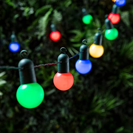 20 multi coloured led festoon party lights for indoor outdoor use by 20 multi coloured led festoon party lights for indoor outdoor use by lights4fun aloadofball Image collections