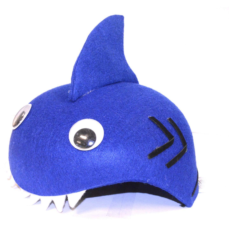 Bulk Buy: Darice Crafts for Kids Dress Up Felt Hat Shark (6-Pack) 106-3025D