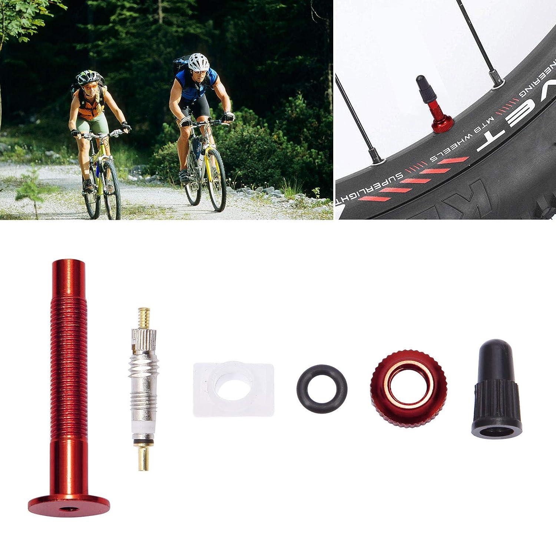 Anladia 2 v/álvulas Tubeless 40 mm Presta Tubeless-Ventil Desmontables Reifenventil para MTB Mountainbike