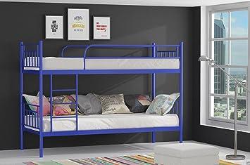 Etagenbett Hochbett Gebraucht : Etagenbett hochbett stockbett metall lattenrost neu 90x200 cm blau