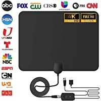 [2020 Ultimate] HD TV Antenna Indoor Amplified Digital HDTV 80-120 Mile Range with Detachable Amplifier Signal Booster and 15FT High Performance Coaxial Cable Local Broadcast HD Signal Channels
