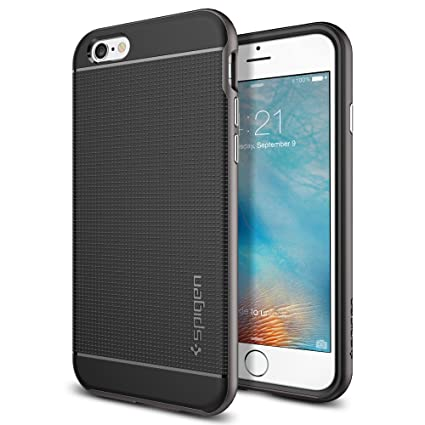 reputable site cf431 0df97 iPhone 6S Case, iPhone 6 Case, Spigen Neo Hybrid - Flexible Inner TPU and  Reinforced Hard Bumper Frame for Apple iPhone 6S / iPhone 6 - Gunmetal