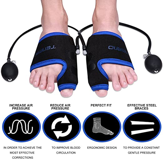 TENMAND Adjustable Pneumatic Bunion Splints & Toe Straightener & Orthopedic Bunion Corrector, Effective Treatment of Hallux Valgus, Bunion and Hammer Toe