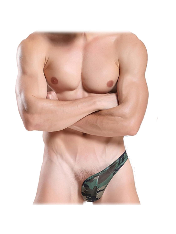 Unterhose - JQK Maenner kurz Bikini G-String-Tanga Jock Unterhose Tarnung-L