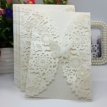 Amazon Com 20pcs Pack Carved Flower Butterfly Pattern