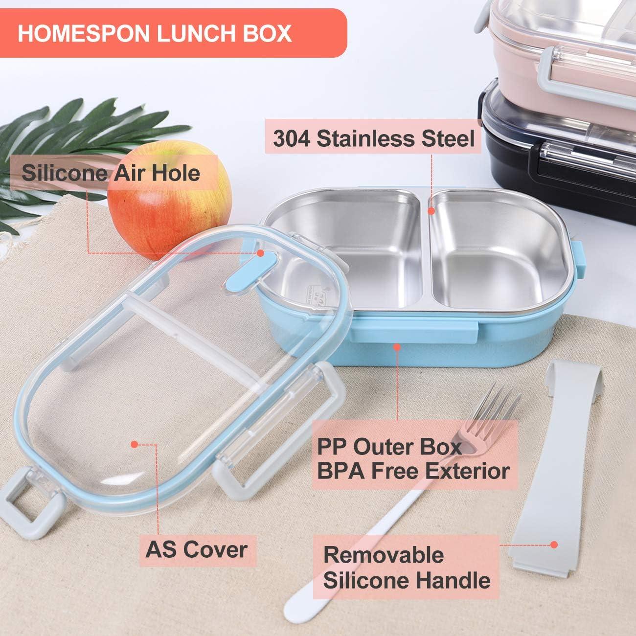 Portable Compartiment Scellé Children/'s Fournitures avec boucle Lunch Box plastique