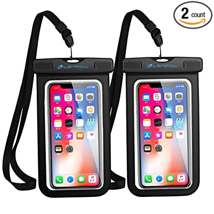 huge selection of 38c35 338a4 LENPOW Universal Waterproof Case, New Type Water Proof Phone Pouch  Cellphone Dry Bag with Ipx8 Certified Touch Wake for iPhone X 8 7 6 6s Plus  Samsung ...