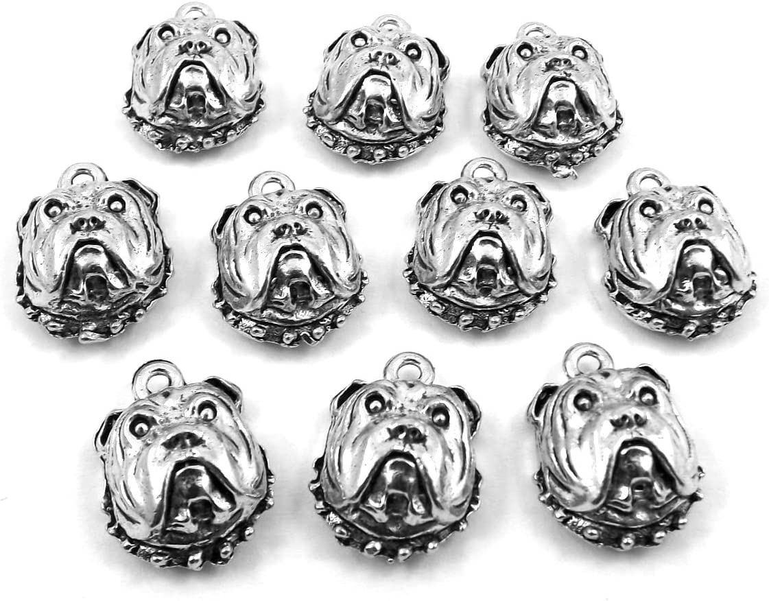 Angel Face with Wings 5 Lead Free Antique Silver Pewter Charms