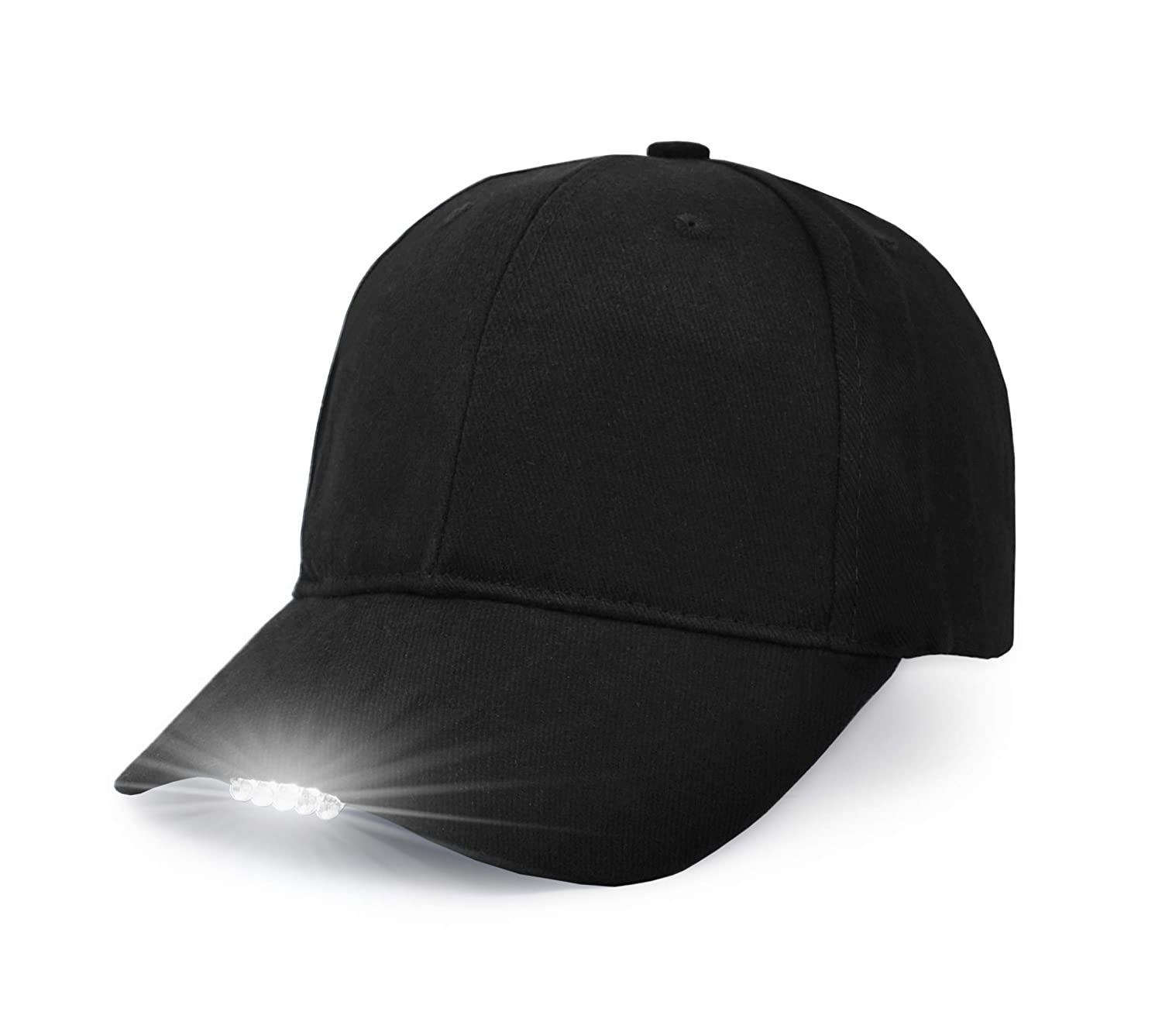 Amazon.com   UltraKey Hands Free LED Baseball Cap Light Glow Bright Women  Men Sport Hat Dark for Outdoor Jogging Breathable Snapback Hats Hip Hop  Party ... 543b4bae58a