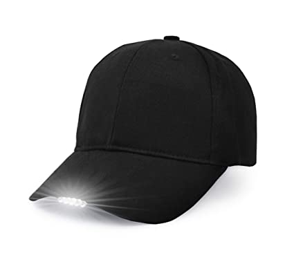 UltraKey Hands Free LED Baseball Cap Light Glow Bright Women Men Sport Hat  Dark for Outdoor 9086a2ef72f