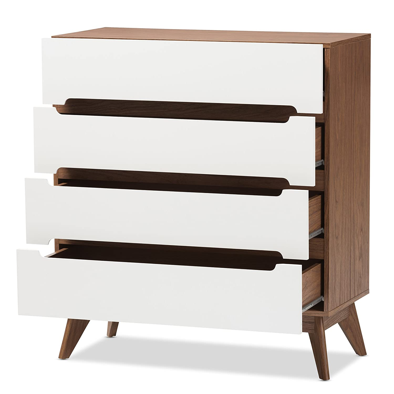 Amazon.com: Baxton Studio Chests of Drawers/ Bureaus, 4-drawer Storage Chest, White/