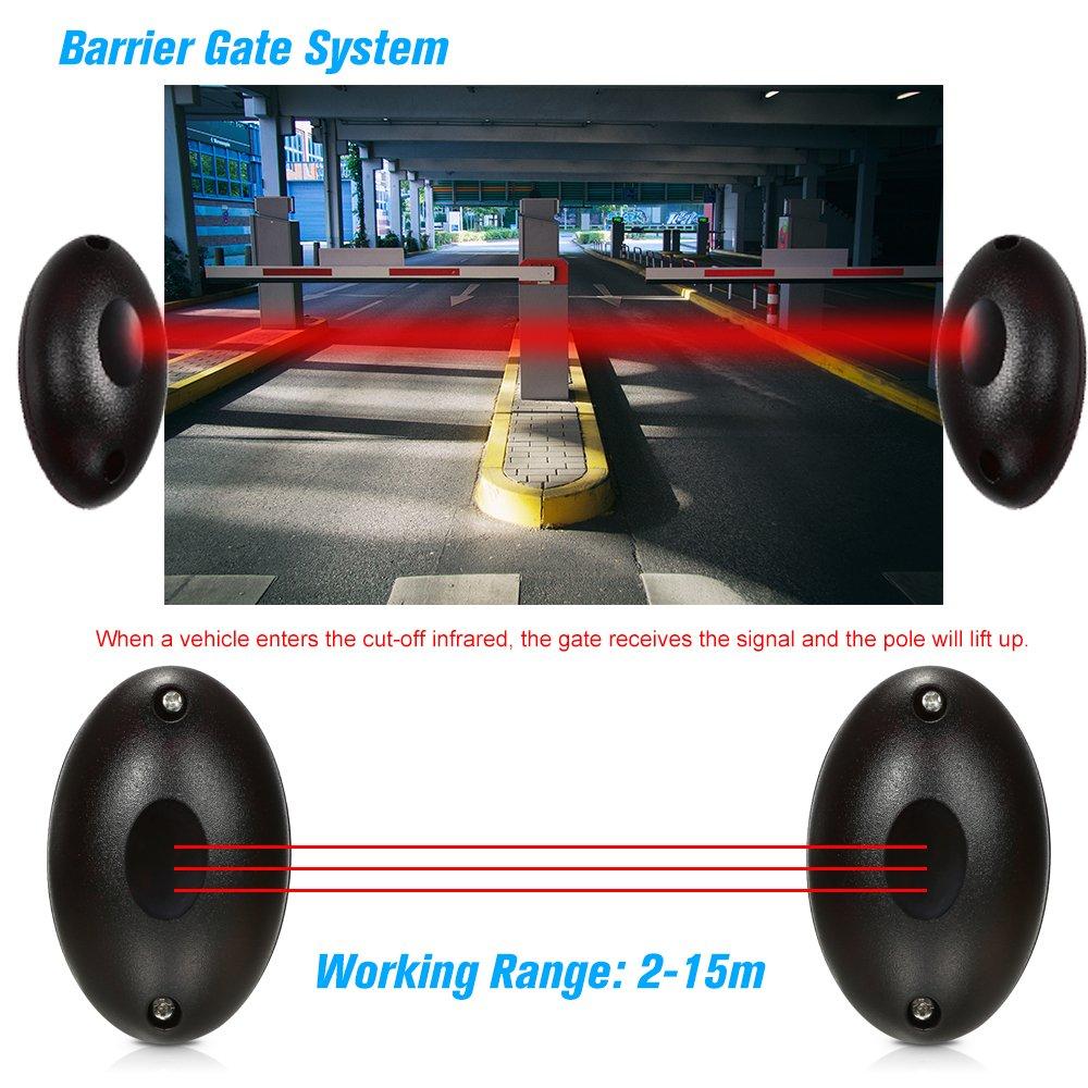 2 Par de ABO-20 Detector de Barrera para Sensor de Infrarrojo Infrarrojo Activo A Prueba de Agua A Prueba de Agua para Puerta Puerta Puerta Sistema de Alarma contra Robos