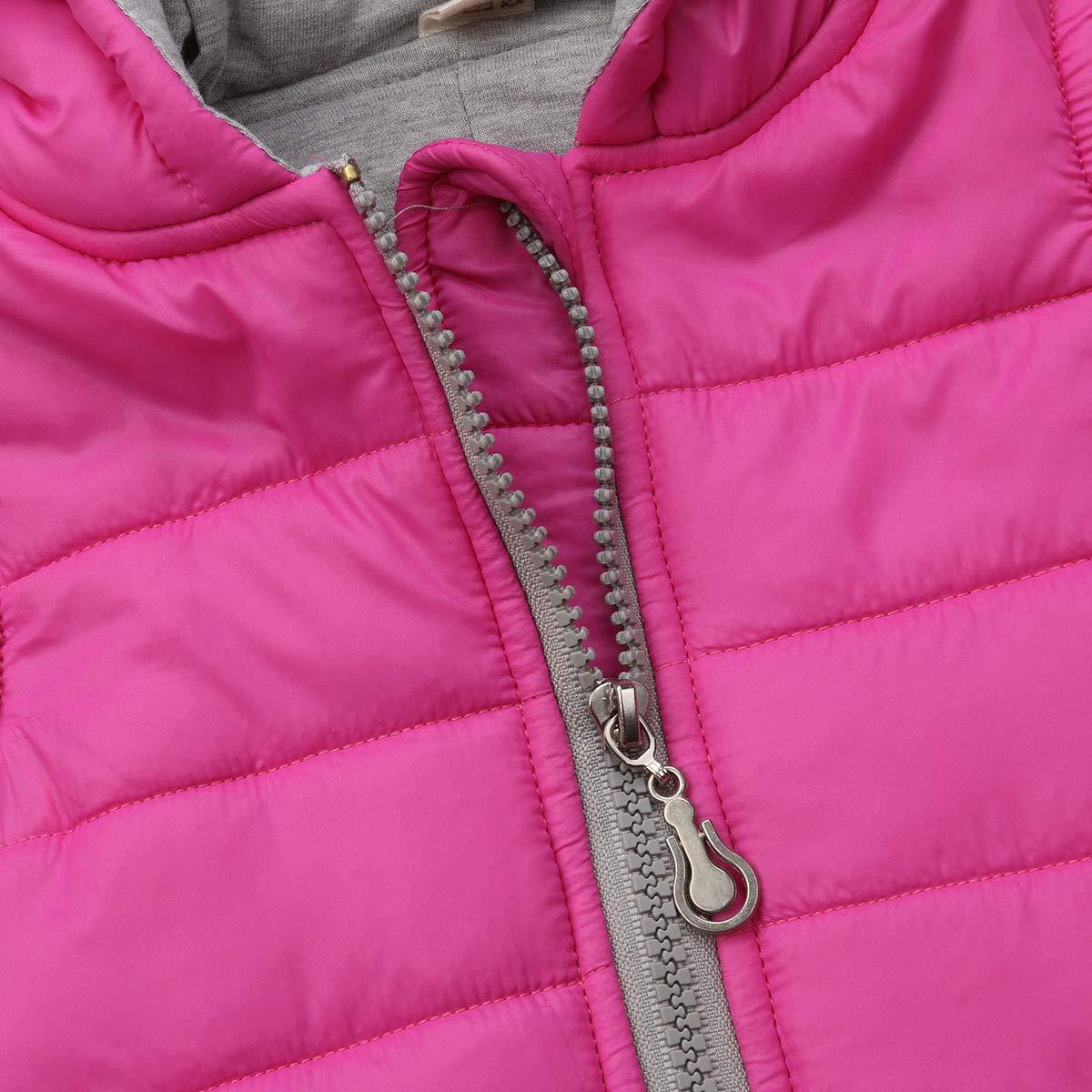 GuliriFei Toddler Baby Girl Boy Hoodies Vest Outwear 3D Dinosaur Waistcoat Warm Jacket Autumn Winter Clothes