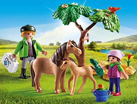 Playmobil pony 2011 series foal young horse stute stallion equestrian centre