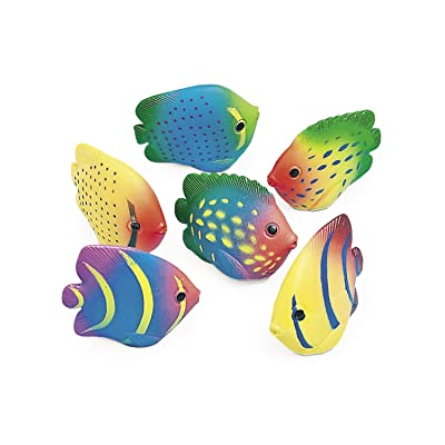 Vinyl Mini Tropical Fish Squirts (1 dz) : Bathtub Toys : Baby