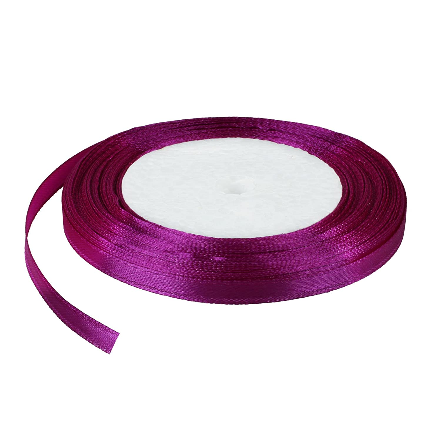 """25 Yards 1//4/"""" 6mm Satin Ribbon Bow Wedding Party Supply Craft Sewing Decorations"""