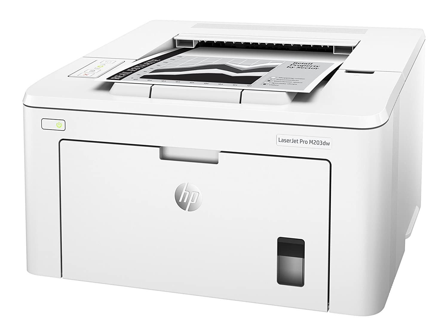 HP LaserJet Pro M203dw Wireless Laser Printer (G3Q47A) with Standard Yield Black Toner Cartridge