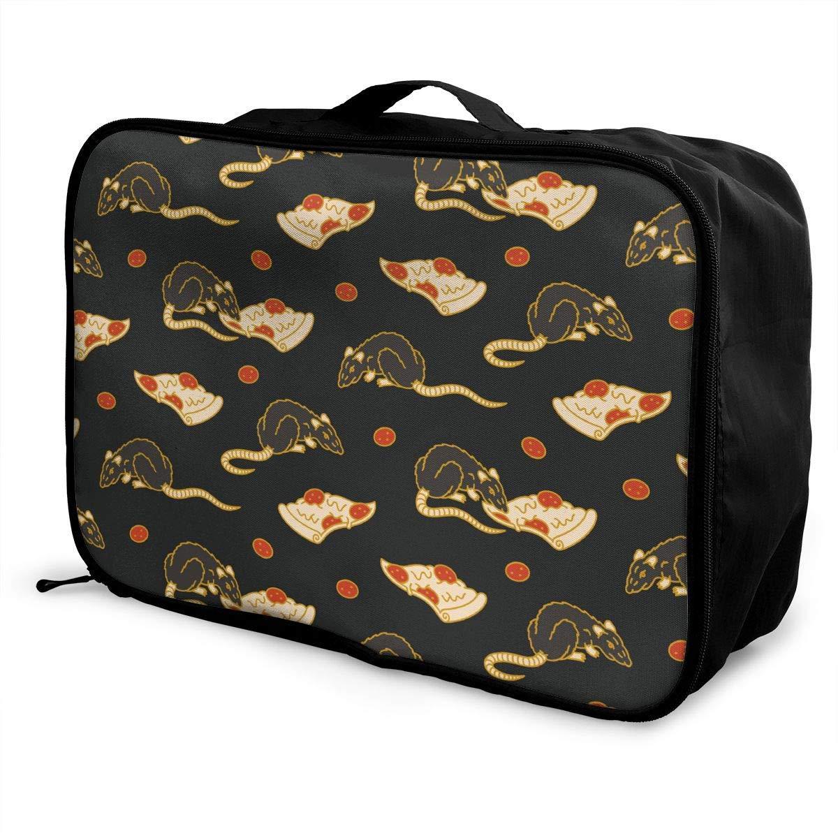 Travel Duffel Bag Waterproof Fashion Lightweight Large Capacity Portable Duffel Bag for Men /& Women Pizza Rat JTRVW Luggage Bags for Travel