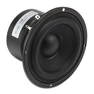 DROK 4 Inches 8 Ohm Full-Range Stereo Audio Speakers, 40W Portable HiFi Speakers DIY Loudspeaker Woofer for Desktop Computer Car Auto Motor Motorcycle