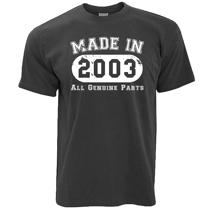 Geburtstag Frauen T-Shirt Made in 2003 Alle Original-Teile 16