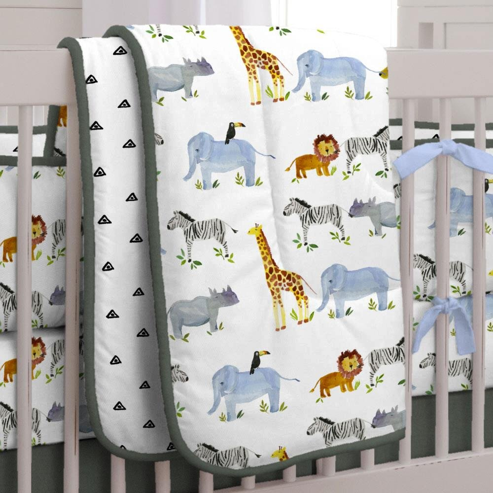 Carousel Designs Painted Zoo Crib Comforter