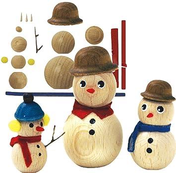 Alles Meinede Gmbh 3 Tlg Set Holz Bastelset 3 D Figuren