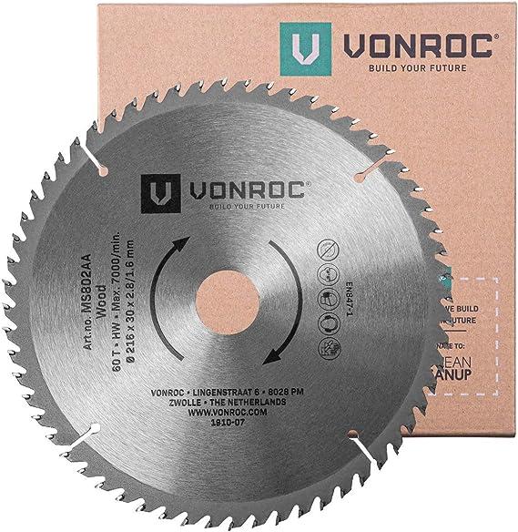 VONROC Hoja de sierra universal VONROC 216mm - 60 dientes - para ...