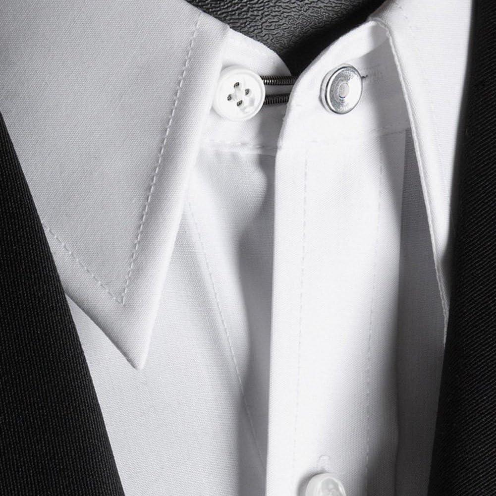 6 unidades 10 mm Metal Botón de extensores de cuello de camisa ...