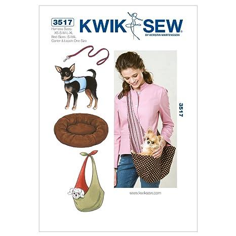 Kwik Sew 3517 - Patrones de costura para accesorios de perro (instrucciones en inglés,