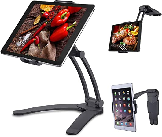 Meacom 2 In 1 Handyhalter Küche Handy Halterung Tisch Tablet Ständer Alulegierung Und Abs Wand Halter